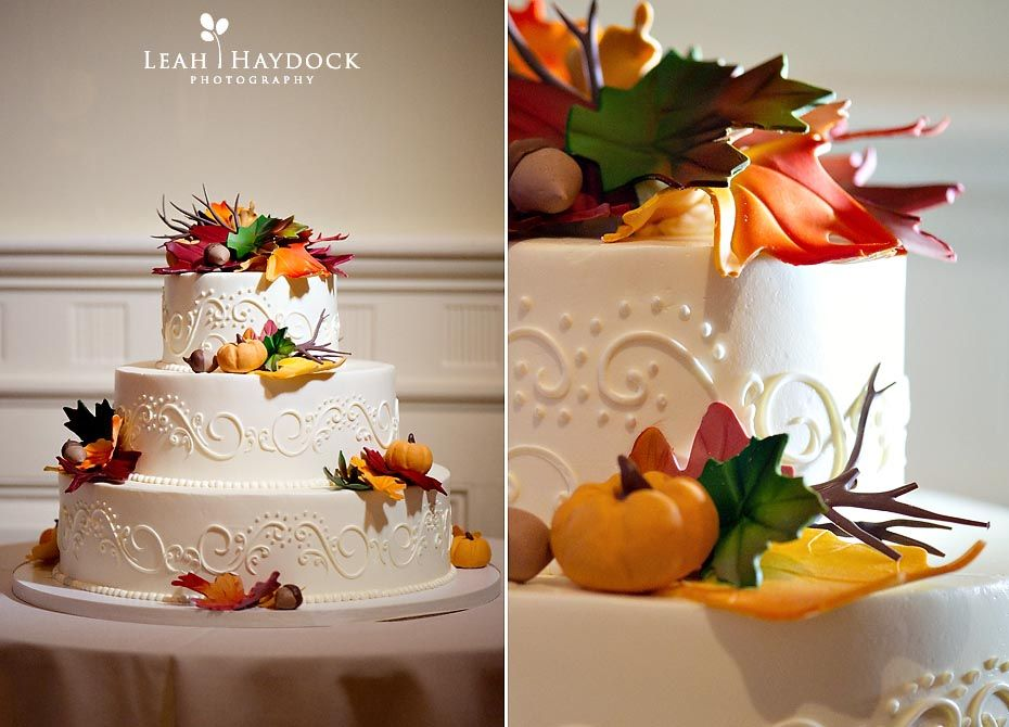 So I really REALLY liked this fall wedding cake Simple and colorful yet