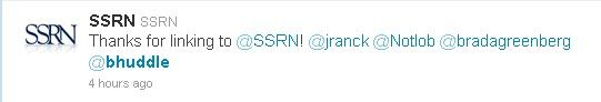 Useless SSRN Tweet Number One