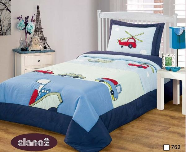 tagesdecke f r jungen 170 x 210 cm blau bett berwurf neu t. Black Bedroom Furniture Sets. Home Design Ideas