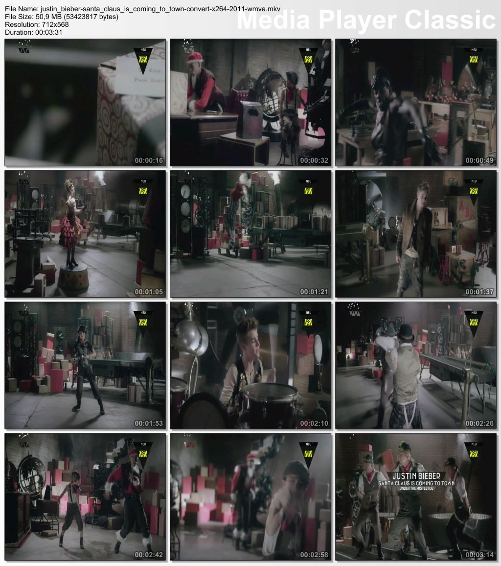 Justin Bieber - Santa Claus Is Coming To Town CONVERT x264 2011