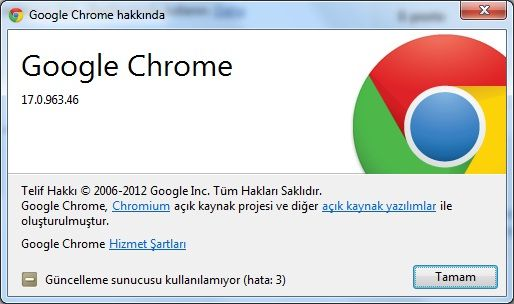 Google Chrome v17.0.963.46 Final Türkçe (Win/Mac/Linux)